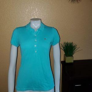 Lacoste Polo Shirt Top sz 38 S blue